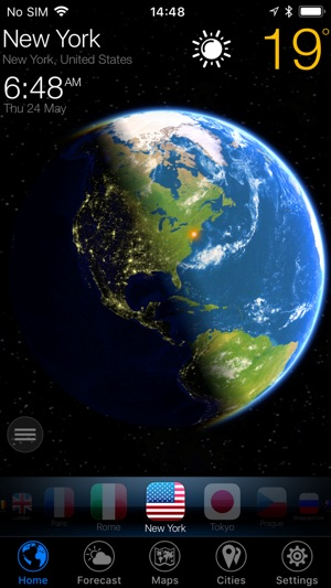3D Earth - widget do tempo Screenshot