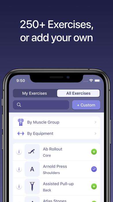 Liftr - Workout Tracker Screenshots