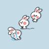 Emo Bunny Stickers