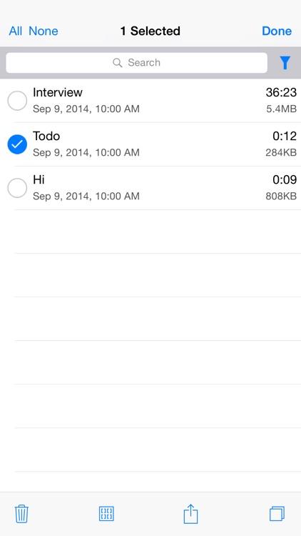 Audio Memos screenshot-4