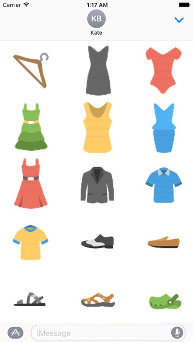 Clothes And Shoes Icon Sticker screenshot 1