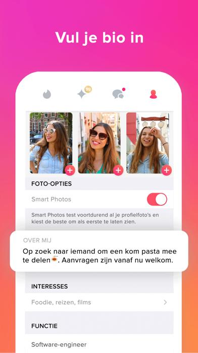 Tinder iPhone app afbeelding 3