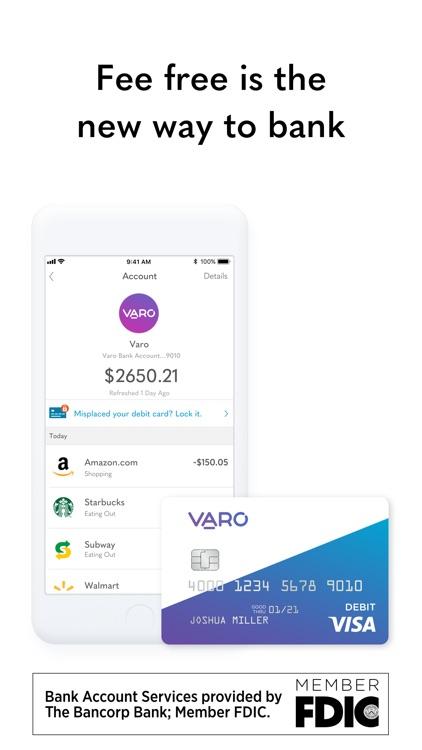 Varo Mobile Banking screenshot-0