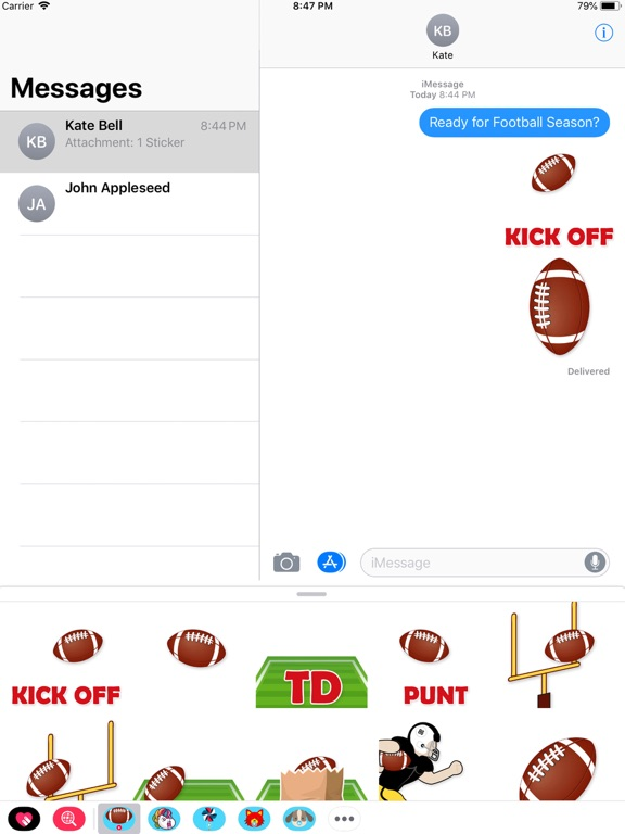 Animated Football Stickers screenshot 2