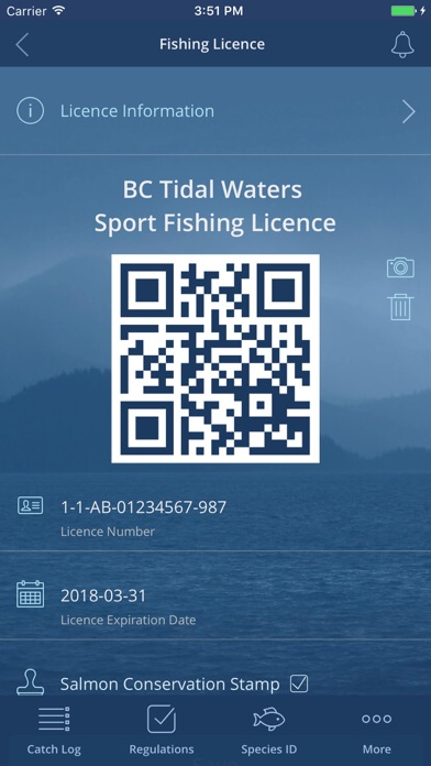Image of FishingBC for iPhone
