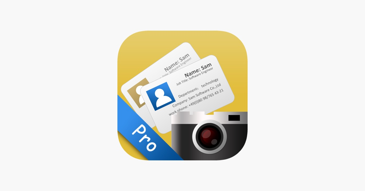 Sam pro business card scanner on the app store sam pro business card scanner on the app store reheart Gallery