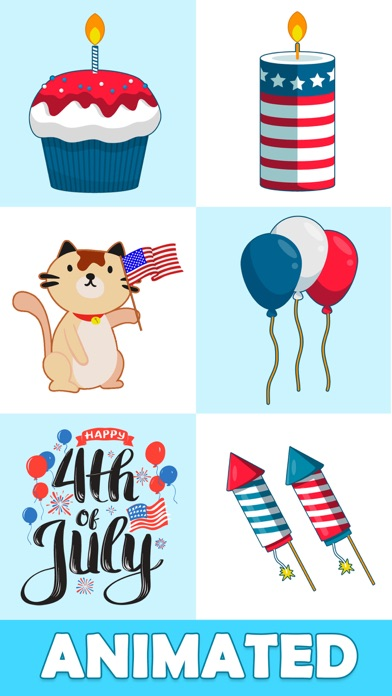 Animated July Fourth Stickers Screenshot 3