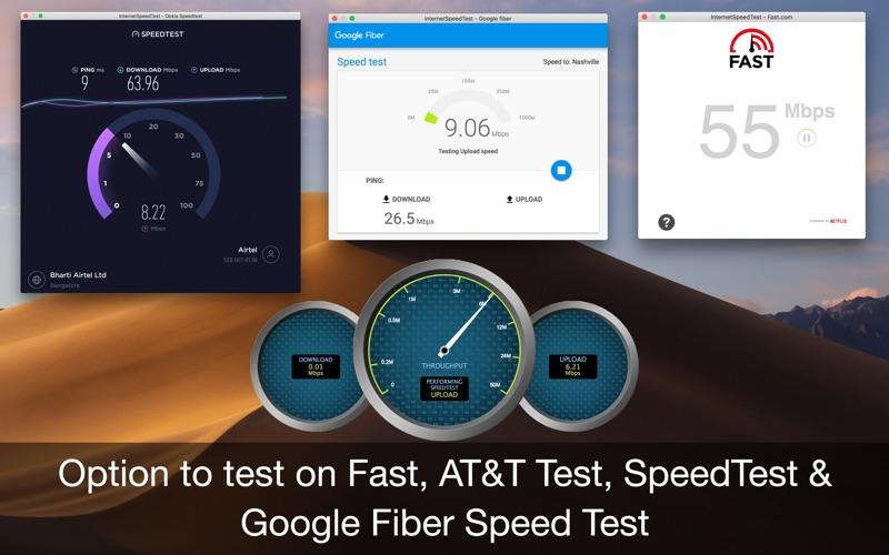Internet Speed Test App Screenshots