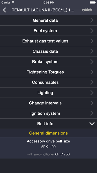 TechApp for Renault Screenshot