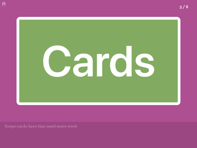 Simple Cards - Training Tool Screenshot