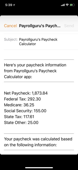 paycheck calc on the app store