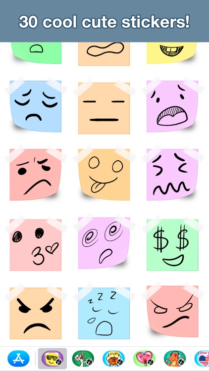 Paper emotion stickers screenshot-3