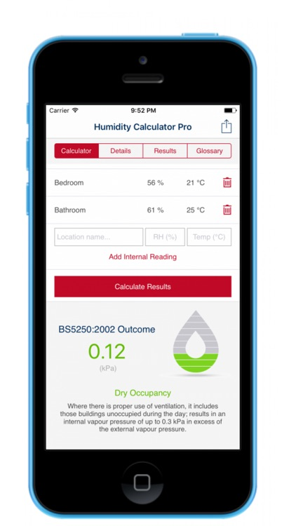 Humidity Calculator (Pro) screenshot-1