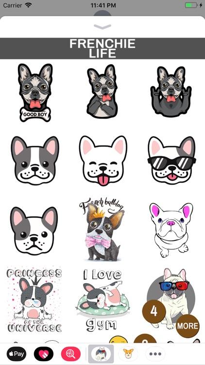 Frenchie Life Emoji Stickers