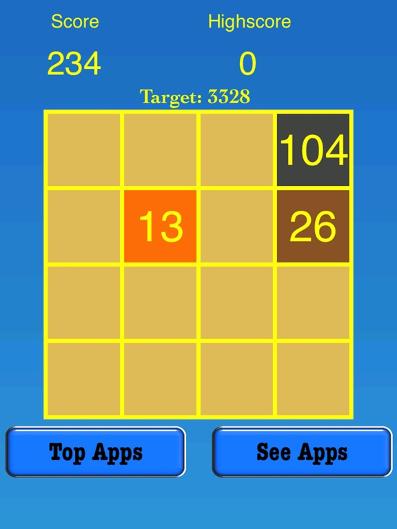 3328 Number Tiles Merge Game screenshot 6