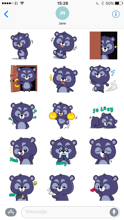Black Bear Bao Bao Stickers