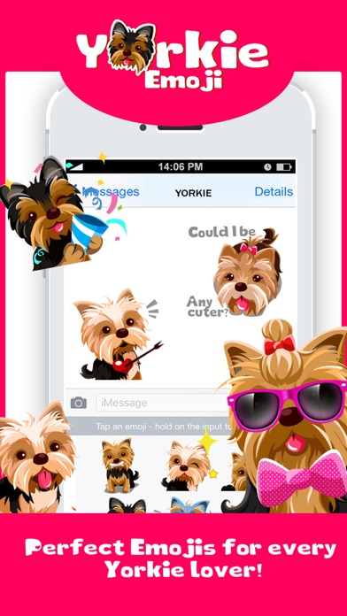 Yorkie Dog Emoji Stickers screenshot one