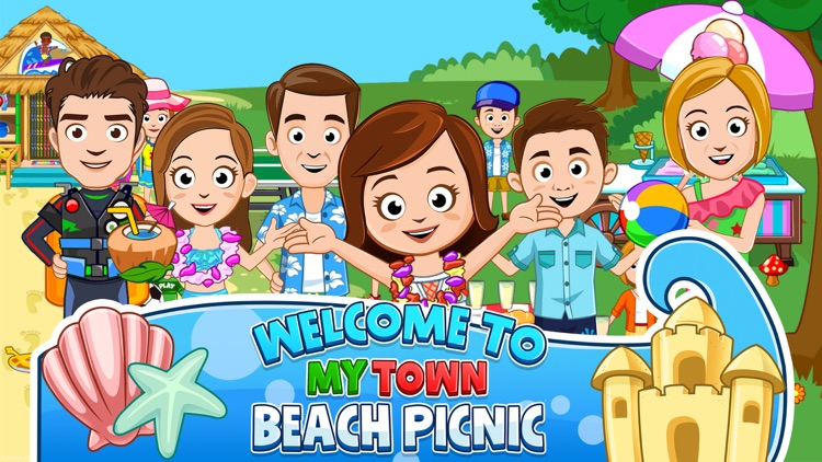 My Town : Beach Picnic screenshot-0