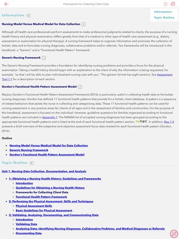 Nursing Health History Assessment