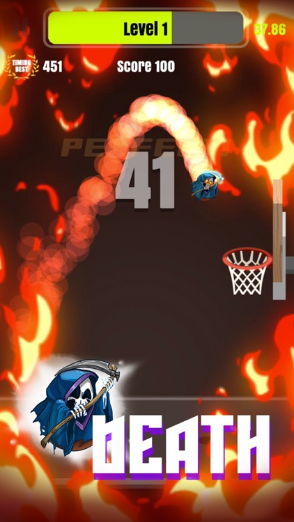 Tap Shots - dunk shot on fire screenshot-0