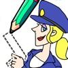 Draw Happy Police: Trivia Game - iPadアプリ