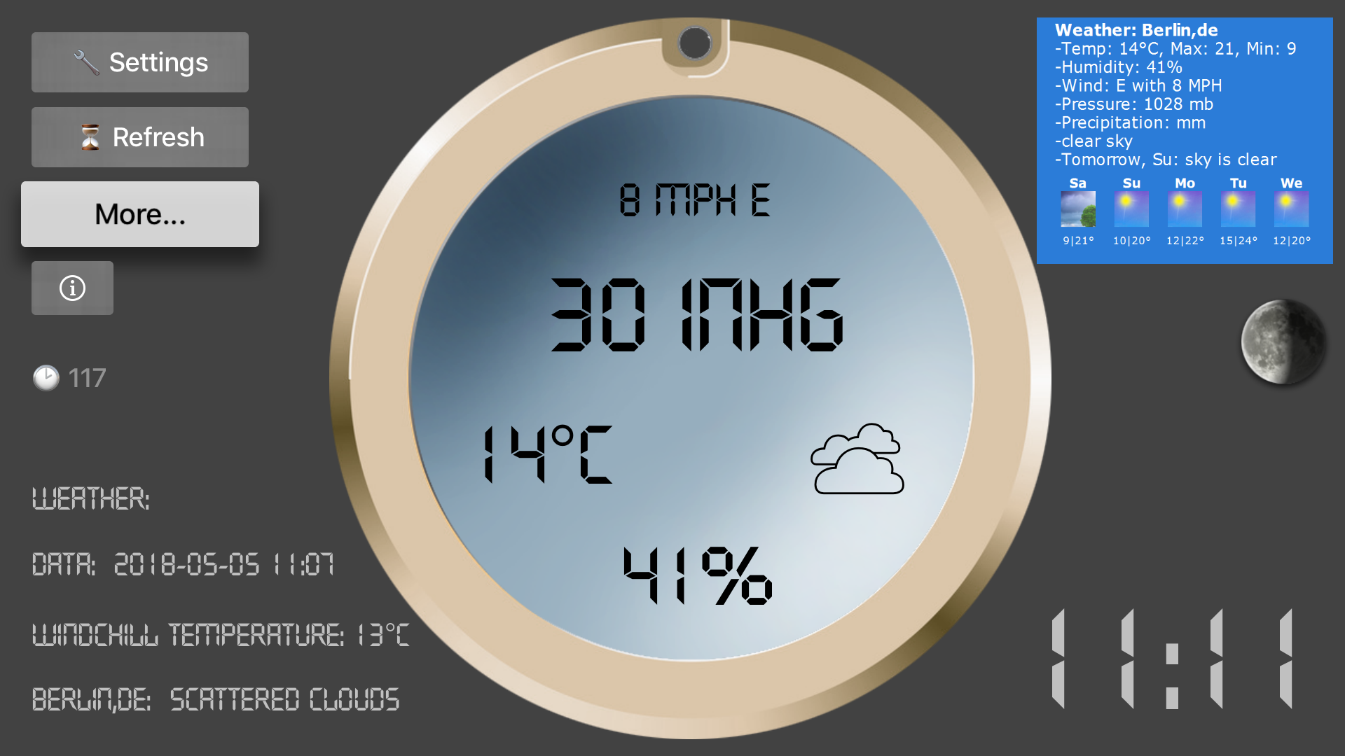 LCD Weather Barometer screenshot 1