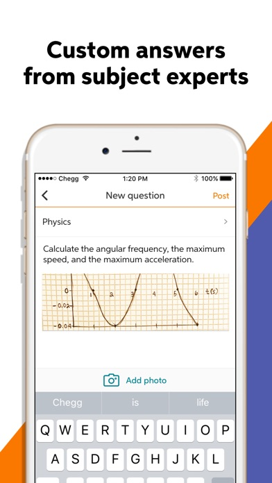Chegg Study - Homework Help app image