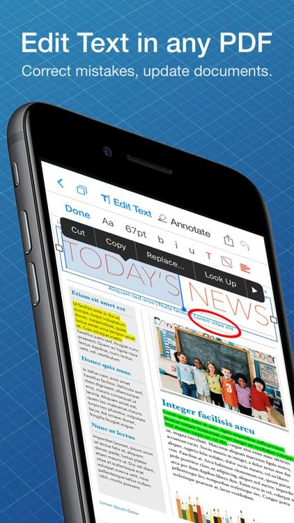 PDF Office: Edit Text & Reader screenshot-0