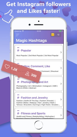 Magic HashTags For Instagram on the App Store