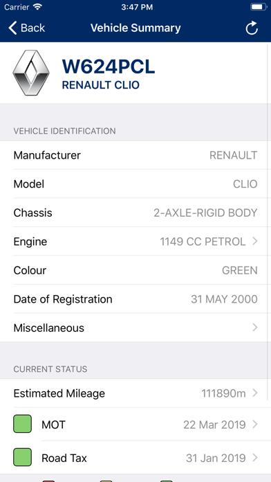 Vehicle Lookup screenshot three
