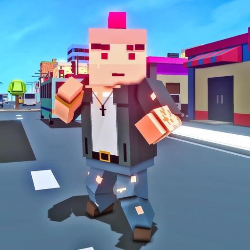 Blocky Gangster Crime War Sim