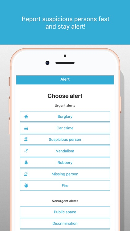 WeAlert - safer neighborhoods