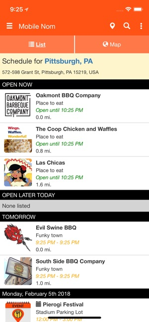 Mobile Nom - Food Truck Finder on the App Store