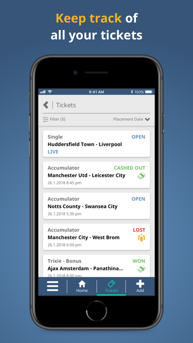 Joe Jennings Bet Tracker screenshot three