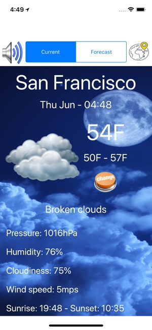 Weather Day Screenshot