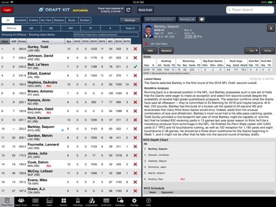 Fantasy Football Draft Kit '18 screenshot 6