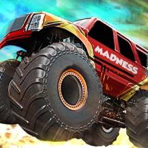 4 Wheel Monster Truck Race