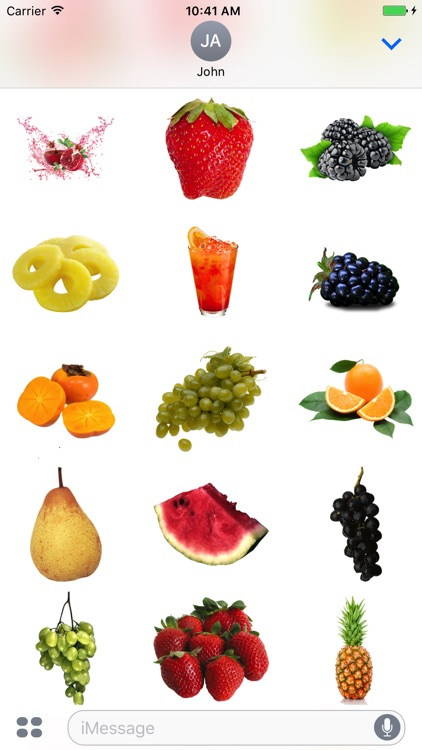 Fruits for iMessage!