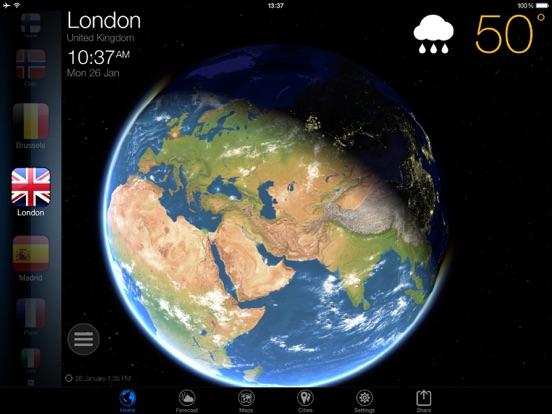 Screenshot #4 pour 3D Earth - widget météo