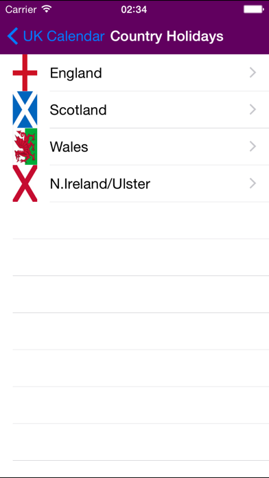 2019 UK Holiday Calendar NoAds screenshot two