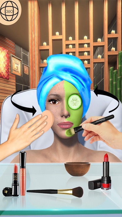 Girl Makeup Salon Spa Games 3D screenshot three