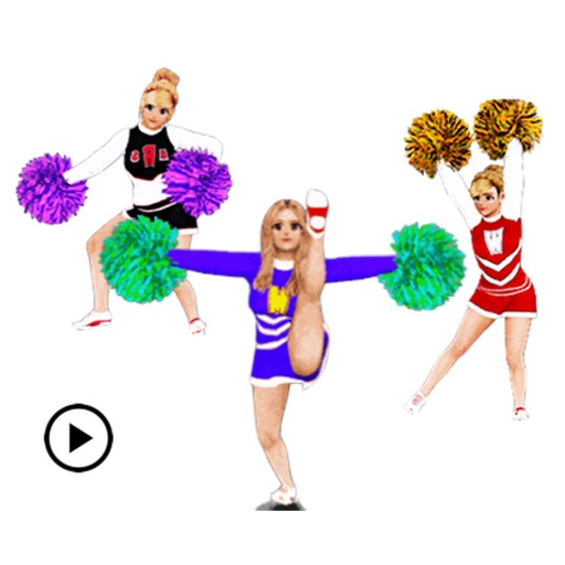 Animated Cheerleader Sticker