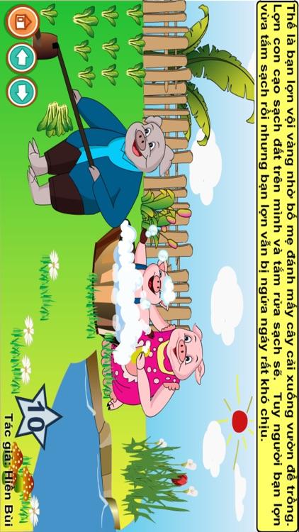 Truyện đọc: Bạn lợn lười tắm screenshot-7