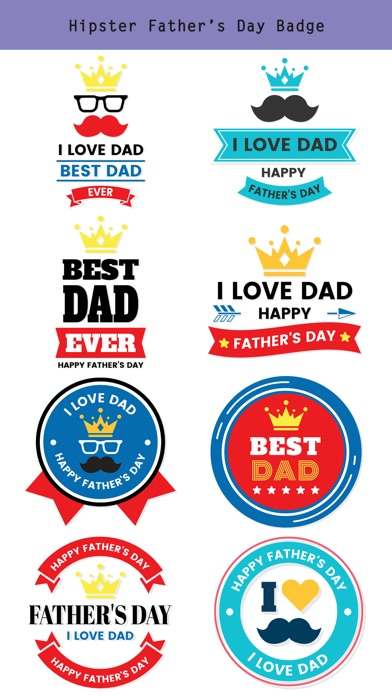 Hipster Happy Father's Day screenshot 3