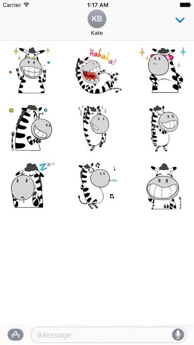 Funny Zebra Zebramoji Sticker screenshot 2