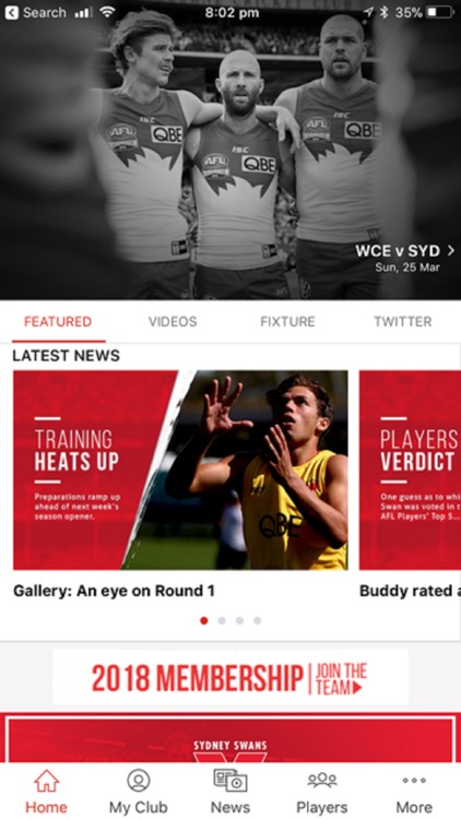 Sydney Swans Official App by Telstra Corporation Limited