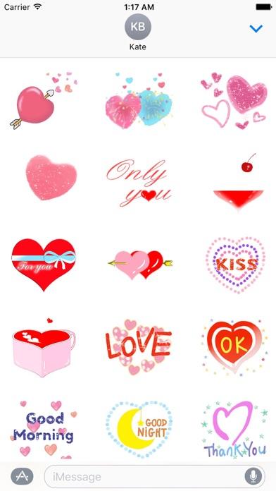 Love And Heart Sweet Sticker screenshot 1