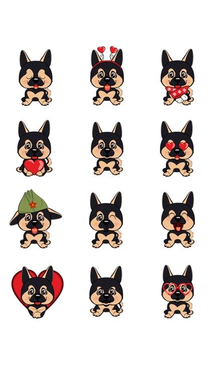 German Shepherd Emojis.