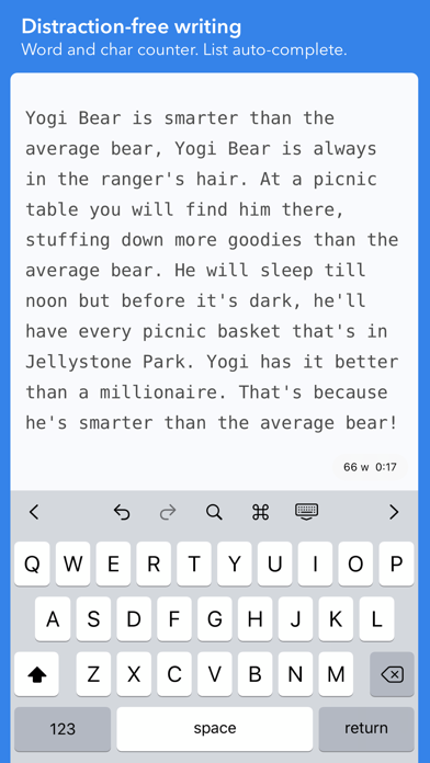 iWriter Screenshots