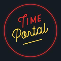 Ícone do app Time Portal: antes e agora